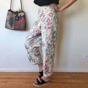 High Waisted Floral Summer Pants